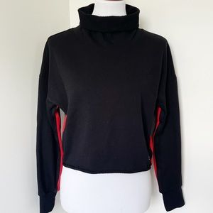 CALVIN KLEIN black/red turtleneck sweater Size M